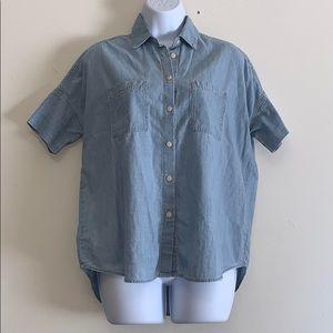 Madewell jean blouse
